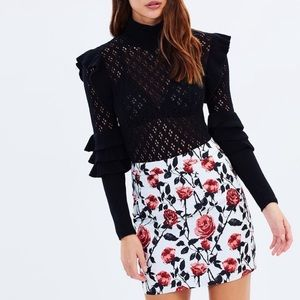 Asilio Case Of Roses Skirt in Floral Mini Size 4